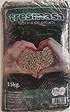 Pellet de madera de pino | Saco de pellets 15 kg | Combustible para Estufa Biomasa |...